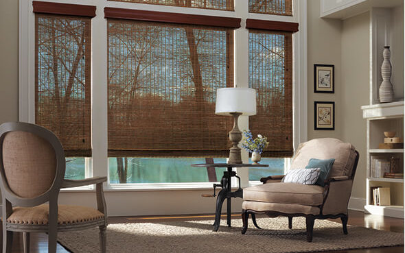 natural materials greenguard certified dust repelling provenance woven wood shades cordless motorized lift