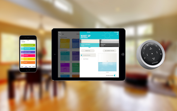 battery powered hunter douglas window shades treatments pebble remote control wall mount powerview app motorization