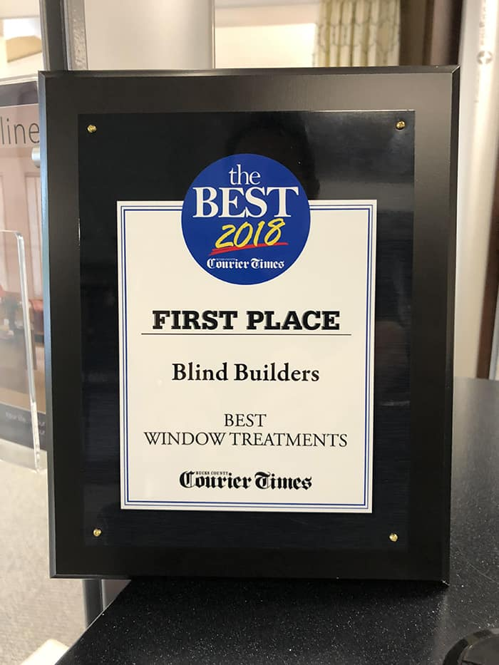 Best of Bucks 2018 Award for Window Treatments in Feasterville, Pennsylvania (PA)