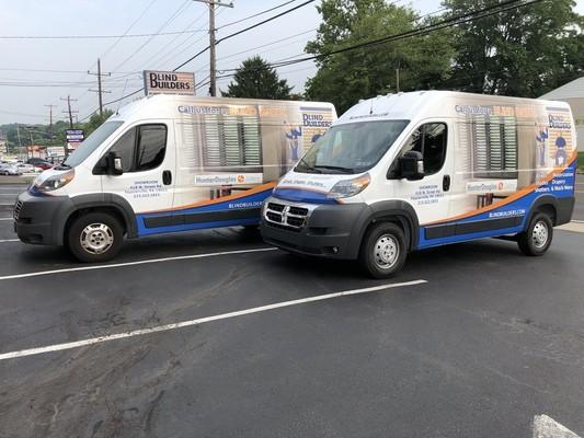 Blind Builders Window Treatments Vehicles in Bucks & Montgomery County, Pennsylvania (PA)