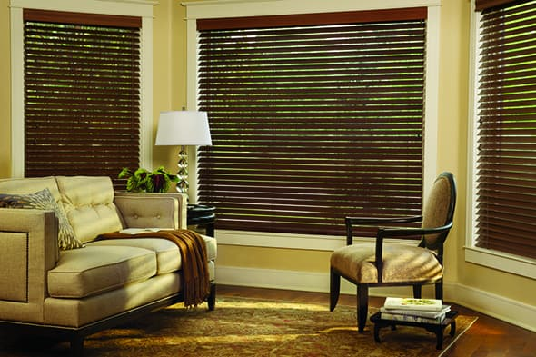 Warm Your Home with Wood Window Treatments near Feasterville, Pennsylvania (PA) like Parkland Hardwood Blinds
